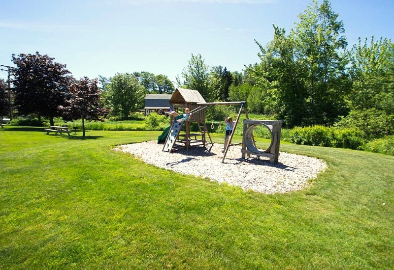 accommodations at our hotel in Boothbay Harbor include a playground for kids