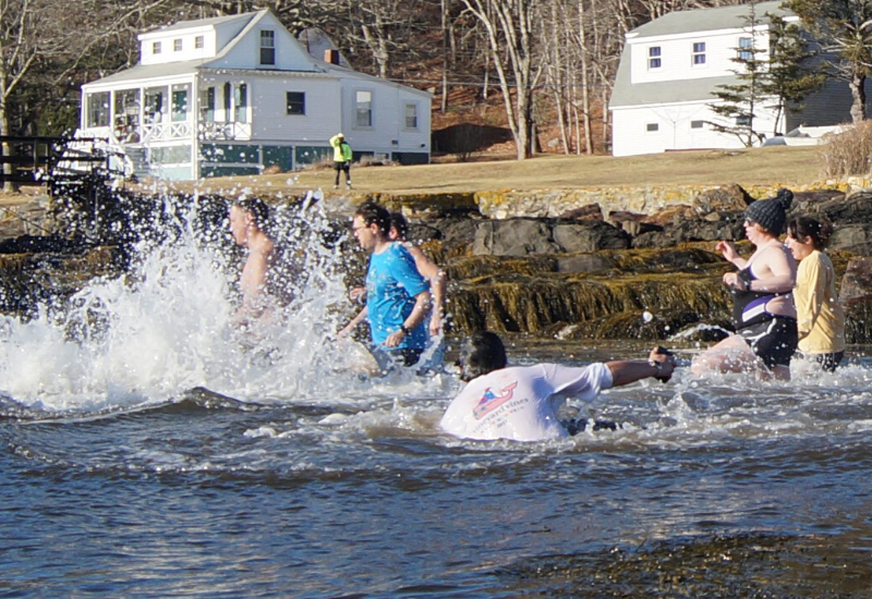 Polar Plunge at Boothbay Region YMCA