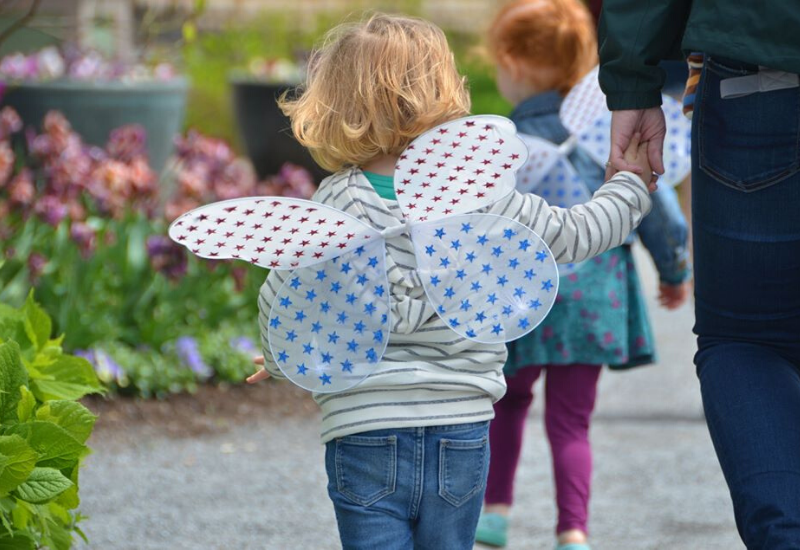 Coastal Maine Botanical Gardens is a family and kid-friendly place in Boothbay Harbor Maine