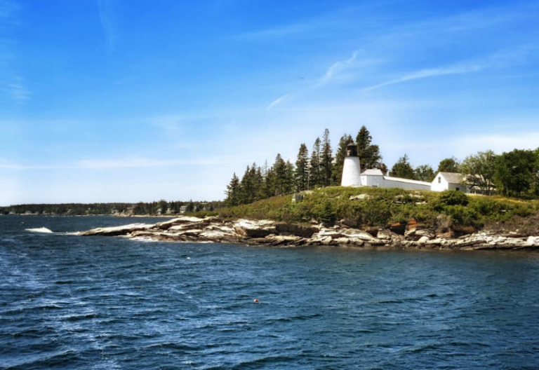 Burnt Island Lighthouse one of the Best Lighthouses Boothbay Harbor Maine