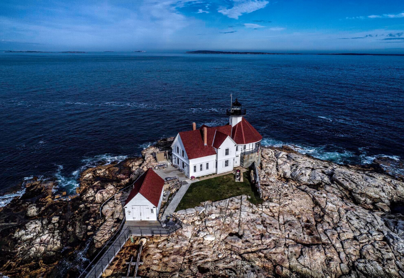 Cuckolds Lighthouse one of the Best Lighthouses Boothbay Harbor Maine