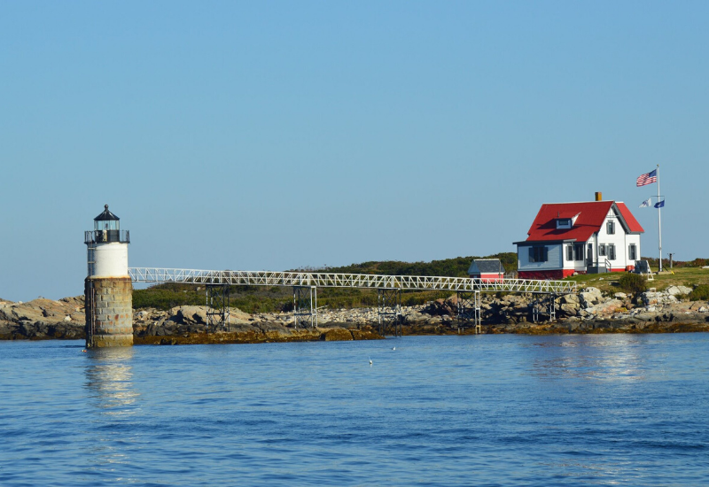 Ram Island Lighthouse one of the Best Lighthouses Boothbay Harbor Maine